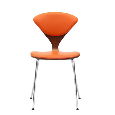 CHCSTK-EBONY LACQUER: Customized Item of Cherner Metal Base Side Chair (CHCSTK)