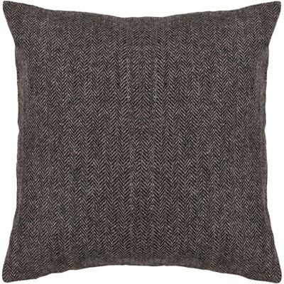 Picture of Handmade Contemporary Wool Pillow in Dark Grey
