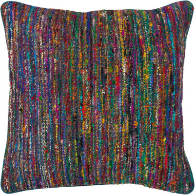 Picture of Handmade Contemporary Silk Fabric Pillow in Multi