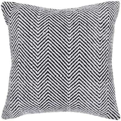 Picture for Handmade Contemporary Cotton Pillow in White/ Black