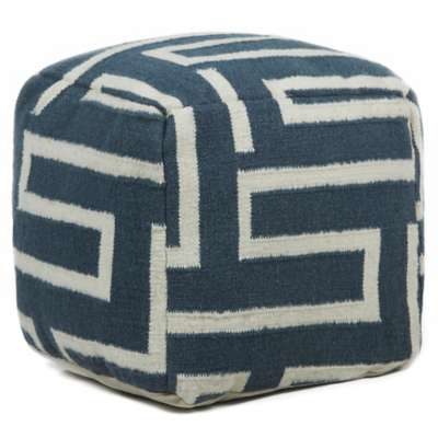 Picture for Hand-Knitted Contemporary Wool Pouf, Maze