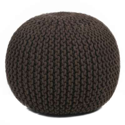 Picture for Hand-Knitted Contemporary Cotton Cord Pouf