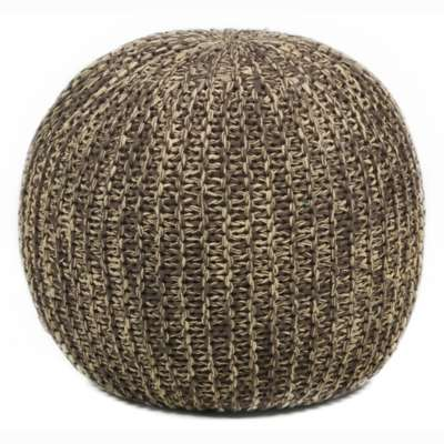 Picture for Hand-Knitted Contemporary Cotton Pouf