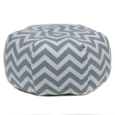 Picture for Handmade Contemporary Printed Cotton Pouf, Gray