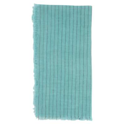 Picture for Linen Napkin with Metallic Stripe in Aqua, Set of 4