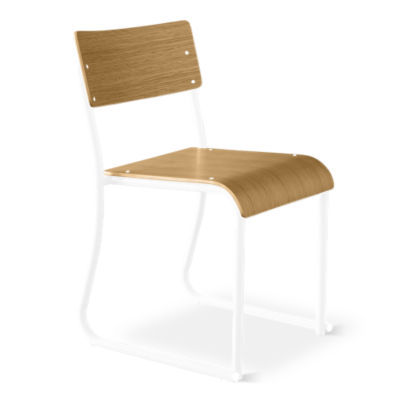 CHURCHCR-WALNUT_WHITE-2PK: Customized Item of Church Chair by Gus Modern, Set of 2 (CHURCHCR)