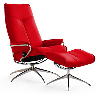 CITYHB-SP-PALOMA CHERRY-HIGH BASE: Customized Item of Stressless City High-Back Chair by Ekornes (CITYHB)