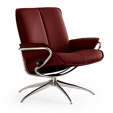 CITYLB-QS-PALOMA BLACK-LBHB: Customized Item of Stressless City Low-Back Chair by Ekornes (CITYLB)