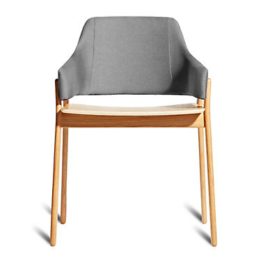 CLUTCHCH1-REDONASHANDRED: Customized Item of Clutch Dining Chair by Blu Dot (CLUTCHCH1)