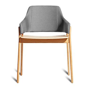 CLUTCHCH1-WALNUTANDEDWARDSLIGHTGREY: Customized Item of Clutch Dining Chair by Blu Dot (CLUTCHCH1)