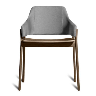CLUTCHCH1-SMOKEANDPEWTER: Customized Item of Clutch Dining Chair by Blu Dot (CLUTCHCH1)