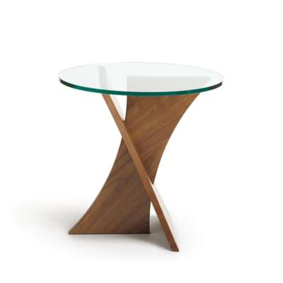 Picture for Planes Round Glass Top End Table by Copeland Furniture