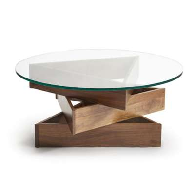 Picture for Twist Round Glass Top Coffee Table by Copeland Furniture