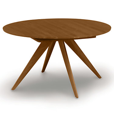 """CP-6-CRE-54-53: Customized Item of Catalina 54/78"""" w Extension Round Table by Copeland Furniture (CP-6-CRE-54)"""