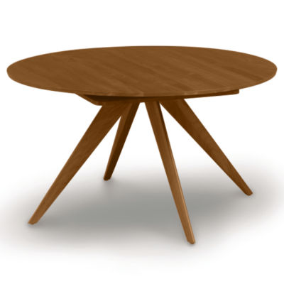 "CP-6-CRE-54-53: Customized Item of Catalina 54/78"" w Extension Round Table by Copeland Furniture (CP-6-CRE-54)"