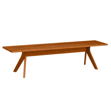 """CP-8-AUD-06-43: Customized Item of Audrey 60"""" Bench in Cherry by Copeland Furniture (CP-8-AUD-06)"""