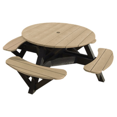 Generations 51 Quot Round Black Picnic Table Smart Furniture