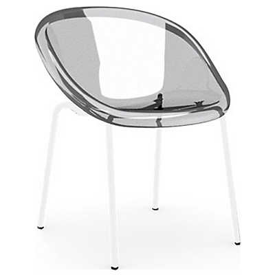 Picture of Bloom Chair with White Frame by Calligaris, Set of 2