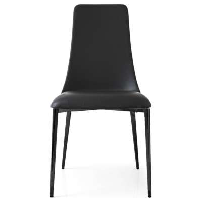 Picture for Etoile Leather Chair with Black Base by Calligaris, Set of 2