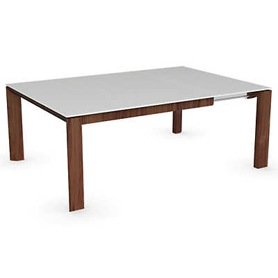 Picture of Omnia Walnut Glass Table by Calligaris