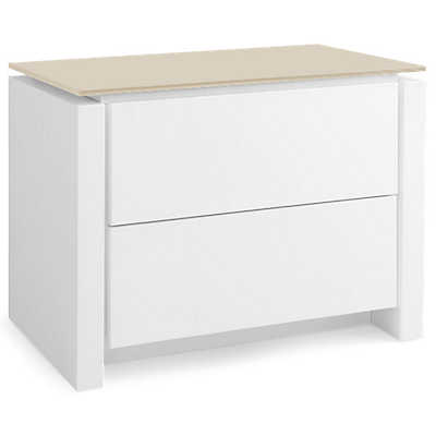 Picture of Mag Matte Optic White Nightstand by Calligaris