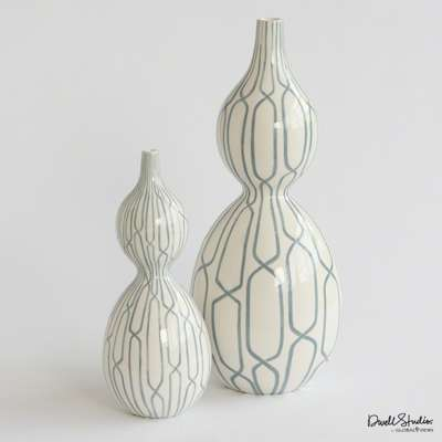 Picture for Linking Trellis Double Bulb Vase by Global Views
