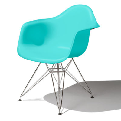 DAR474TE9: Customized Item of Eames Molded Plastic Armchair by Herman Miller (DAR)
