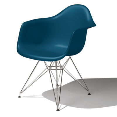 DAR47PBLE8: Customized Item of Eames Molded Plastic Armchair by Herman Miller (DAR)