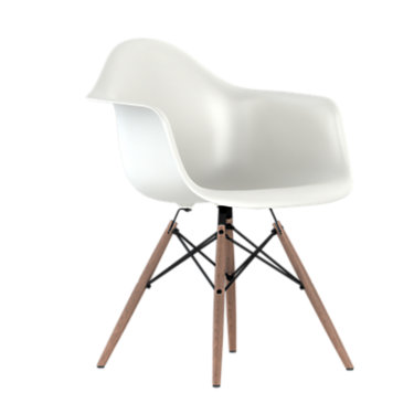 DAW47OUZFE8: Customized Item of Eames Plastic Armchair, Dowel Leg Base by Herman Miller (DAW)