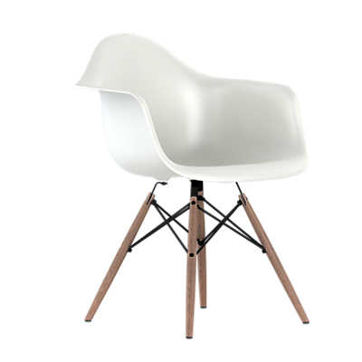 eames plastic armchair dowel leg base smart furniture. Black Bedroom Furniture Sets. Home Design Ideas