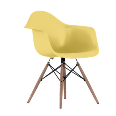 DAW47OUPYWE8: Customized Item of Eames Plastic Armchair, Dowel Leg Base by Herman Miller (DAW)