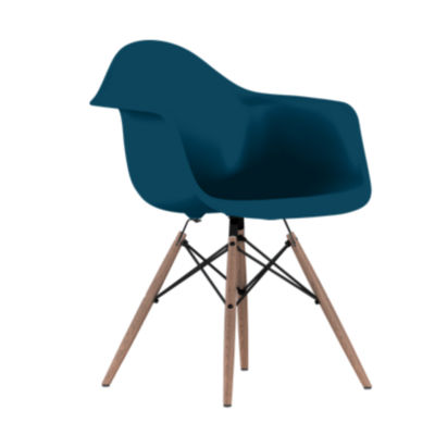 DAWBKOUPBLE8: Customized Item of Eames Plastic Armchair, Dowel Leg Base by Herman Miller (DAW)