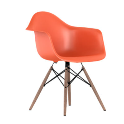 DAW47OUZEE8: Customized Item of Eames Plastic Armchair, Dowel Leg Base by Herman Miller (DAW)