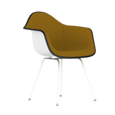 Picture of Eames Upholstered Molded Plastic Armchair with 4-Leg Base by Herman Miller