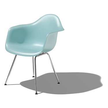 DAXBKZFE8: Customized Item of Eames Molded Plastic Armchair with 4-Leg Base by Herman Miller (DAX)