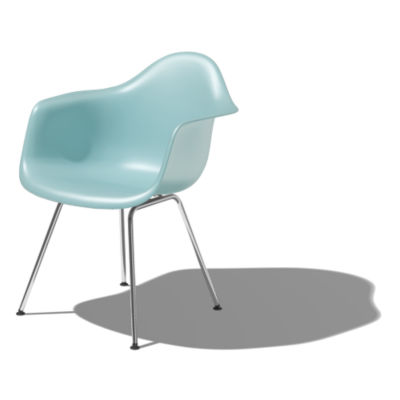 DAX474TE8: Customized Item of Eames Molded Plastic Armchair with 4-Leg Base by Herman Miller (DAX)