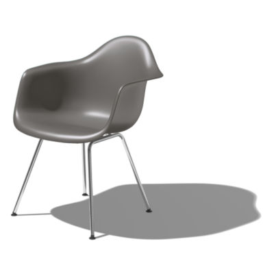 DAXBK92E9: Customized Item of Eames Molded Plastic Armchair with 4-Leg Base by Herman Miller (DAX)