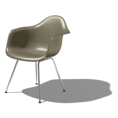 DAX479JE8: Customized Item of Eames Molded Plastic Armchair with 4-Leg Base by Herman Miller (DAX)