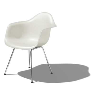 DAXBKZFE9: Customized Item of Eames Molded Plastic Armchair with 4-Leg Base by Herman Miller (DAX)
