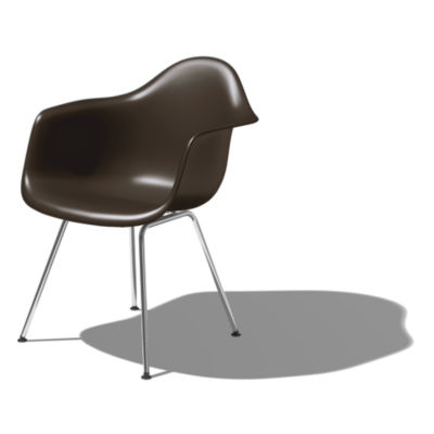 DAXBK5BE9: Customized Item of Eames Molded Plastic Armchair with 4-Leg Base by Herman Miller (DAX)