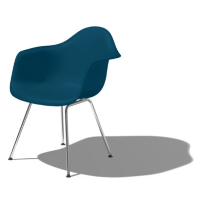 DAX47PBLE9: Customized Item of Eames Molded Plastic Armchair with 4-Leg Base by Herman Miller (DAX)