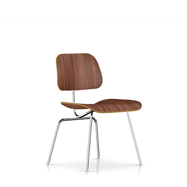 DCM47A2: Customized Item of Eames Plywood Dining Chair with Metal Legs by Herman Miller (DCM)