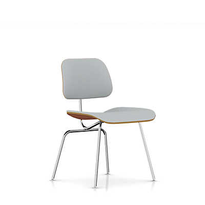 Picture of Eames Plywood Dining Chair by Herman Miller, Upholstered with Metal Legs
