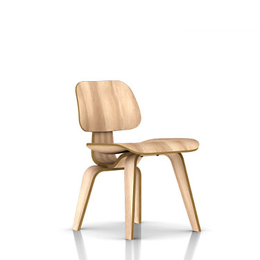 DCW-WHITE ASH: Customized Item of Eames Plywood Dining Chair by Herman Miller, Wood Legs (DCW)