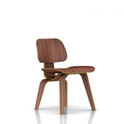 DCW-WALNUT: Customized Item of Eames Plywood Dining Chair by Herman Miller, Wood Legs (DCW)