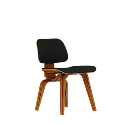 Picture of Eames Plywood Dining Chair by Herman Miller, Upholstered with Wooden Legs