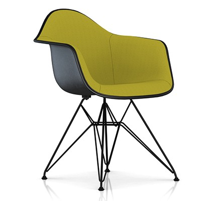 eames uphed molded fiberglass armchair w wire base smart furniture