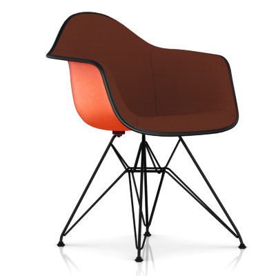 DFAR.U91114ZF14A40E9: Customized Item of Eames Upholstered Molded Fiberglass Armchair with Wire Base by Herman Miller (DFAR.U)