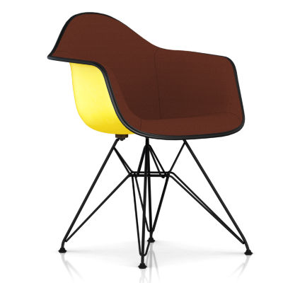 DFAR.U4711511114A22E8: Customized Item of Eames Upholstered Molded Fiberglass Armchair with Wire Base by Herman Miller (DFAR.U)