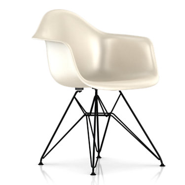 DFARBK111E9: Customized Item of Eames Molded Fiberglass Armchair, Wire Base by Herman Miller (DFAR)